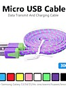 3m v8 micro USB tenacitate nailon cablu de date pentru Samsung tăiței și alte telefon (culori asortate)