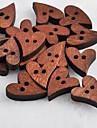 inima album în formă de scraft de cusut nasturi din lemn DIY (10 buc)