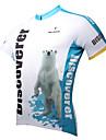ILPALADINO Homme Manches Courtes Maillot de Cyclisme Ours polaire Cyclisme Maillot Hauts / Top, Sechage rapide Resistant aux ultraviolets Respirable, Printemps Ete, 100 % Polyester