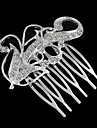 Flower-Shaped Slivered Inlay Rhinestone Five Tooth Hair comb (1Pc)