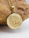 Placat cu aur 18k Allah pandantiv musulmane