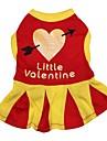 Katt Hund Klänningar Hundkläder Andningsfunktion Hjärtan Röd Kostym För husdjur
