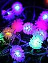 Crăciun conuri de pin 4.5m 28 a condus lumini șir colorate
