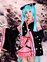 Inspirat de Vocaloid Hatsune Miku Anime Costume Cosplay Costume Cosplay Kimono Peteci Manșon Lung Fustă Accesoriu de Păr Mâneci Centură