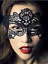 Karnival Mask Unisex Halloween Festival / högtid Halloweenkostymer Svart Enfärgad Spets