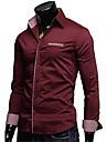 moda lesen bărbați solid de culoare casual, camasa cu maneci lungi o
