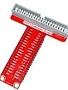 typ-t GPIO expansionskort tillbehör för hallon pi b + - röd