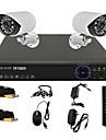 twvision® 4ch 960h hdmi CCTV dvr 2x utomhus 800tvl säkerhet kamerasystem