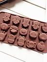 bakformen Djur Paj Muffin Tårta Silikon Miljövänlig GDS (Gör det själv) Teflonbehandlad