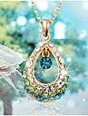Dame Coliere cu Pandativ Cristal Picătură Ștras Aliaj La modă costum de bijuterii Bijuterii Pentru Nuntă Petrecere Zilnic Casual
