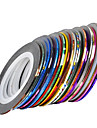 30 pcs Nail Foil Striping Tape nagel konst manikyr Pedikyr Dagligen Abstrakt / Mode / Foliebandspapp
