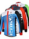 Arsuxeo Men\'s Long Sleeve Cycling Jersey Black / Green White+Red Bule / Black Bike Jersey Top Breathable Quick Dry Anatomic Design Sports 100% Polyester Mountain Bike MTB Road Bike Cycling Clothing