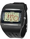 Bărbați Ceas Sport Ceas de Mână Piloane de Menținut Carnea Alarmă Calendar Cronograf LCD Cauciuc Bandă Negru