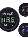 automobile moto DC 12V a 24V conduit voltmetre numerique