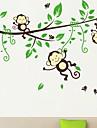 Animale Desene Animate Perete Postituri Autocolante perete plane Autocolante de Perete Decorative,Vinil Material Re-poziționabilPagina de