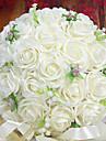 Une succursale Mousse de polystyrene Roses Fleur de Table Fleurs artificielles 26 x 26 x 33(10.24\'\' x 10.24\'\' x 12.99\'\')
