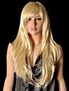 Synthetische Peruecken Glatt Stil Mit Pony Kappenlos Peruecke Blond Synthetische Haare 26 Zoll Damen Blond Peruecke Halloween Peruecke