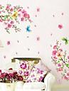 Botanic Romantic Natură moartă Modă Florale Perete Postituri Autocolante perete plane Autocolante de Perete Decorative,Vinil Pagina de