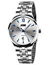 SKMEI Bărbați Ceas La Modă / Ceas Elegant  Calendar / Rezistent la Apă / Iluminat Oțel inoxidabil Bandă Elegant / minimalist Argint