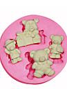 Forma de desene animate ursuleț de pluș mucegai silicon mucegai tort decorare silicon pentru fondante meserii bomboane bijuterii PMC