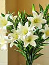 Flori artificiale 1 ramură Stil European Crini Față de masă flori