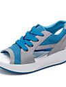 Damă Pantofi Sintetic Piele de Căprioară Imitație Primăvară Vară Pantof cu Berete Fitness & Antrenament Cross Dantelă Pentru Roz Albastru