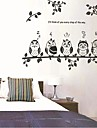 bufnițe și ramură de cameră / living / dormitor perete autocolant pentru copii