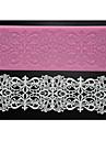 Four-C tårta spets matta sockerkonst silikonform bakning leveranser, silikonmatta fondant tårta verktyg färgen rosa