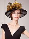 Femei Fata cu Flori Organza Diadema-Nuntă Ocazie specială Informal Birou & carieră Exterior Pălării/Căciuli
