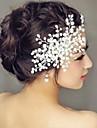 perleťové vlasy hřebeny hlavice svatební party elegantní ženský styl