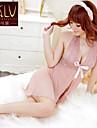Feminin Lenjerie din Dantelă / Capoate / Ultra Sexy Pijamale Organza Solid Roz