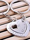 Nunta inimă dublă Breloc cheie inel de zi iubitul Îndrăgostiților (o pereche)