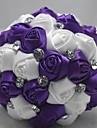 """Flori de Nuntă Rotund Buchete Nuntă Poliester Satin Dantelă Mărgea Ștras 7.09""""(Approx.18cm)"""