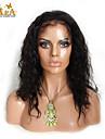 """8 """"-26"""" indian jungfru hår naturlig våg limfria fullt spets peruk färg svart med baby hår för svarta kvinnor"""