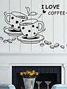 perete decalcomanii autocolante de perete, autocolante de perete cafea stil ceașcă pvc