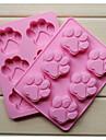 silicon de moda 6 orificii săpun gheare de pisică forma tort bakeware mucegai unelte de gătit bucătărie ciocolată luare desert alimente