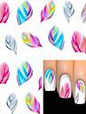 1 Vattenövergångsklistermärke 3D Nail Stickers Tecknat Mode Vackert Dagligen Hög kvalitet