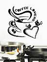 iubitorii de cafea de perete autocolante de perete stil decals engleză cuvinte pvc autocolante de perete