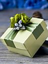 Cubic Hârtie perlă Favor Holder cu Panglici Flori Cutii de Savoare Cutii de Cadouri - 6