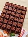 forme pentru copt bakeware silicon în formă de alfabetul englez pentru ciocolata