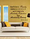 autocolante de perete de perete stil decalcomanii imperfecțiunea este beatuy cuvinte în limba engleză&citate autocolante de perete