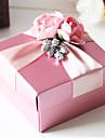 Cubic Hârtie cărți de masă Favor Holder cu Panglici Flori Cutii de Savoare