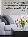 fie cine ești ceea ce simti decalcomanii de perete citat zooyoo8075 decor decorative de perete autocolante de perete de vinil detașabil