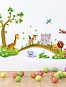 Djur Tecknat Väggklistermärken Väggstickers Flygplan Dekrativa Väggstickers, pvc Hem-dekoration vägg~~POS=TRUNC Vägg