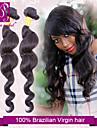 Brasilianskt hår Löst vågigt Klassisk Hårförlängning av äkta hår 3 delar Hög kvalitet Human Hår vävar Dagligen