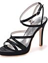 Pentru femei Pantofi Satin Primăvară / Vară Toc Stilat Albastru / Roz / Maro deschis / Nuntă / Party & Seară / Party & Seară