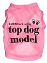 Katt Hund T-shirt Hundkläder Cosplay Bokstav & Nummer Ros Blå Kostym För husdjur