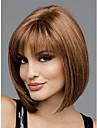 Synteettiset peruukit Suora Tyyli Bob-leikkaus Suojuksettomat Peruukki Beige Synteettiset hiukset Naisten Peruukki Lyhyt StrongBeauty