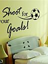 Sporturi Cuvinte & Citate Desene Animate Perete Postituri Cuvinte și citate autocolante de perete Autocolante de Perete Decorative, Vinil