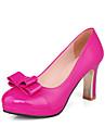 Femme Chaussures Polyurethane Cuir Verni Printemps Ete Chaussures a Talons Talon Bottier Bout rond Noeud pour Bureau et carriere Soiree &